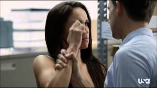 Suits - Mike finally tells Rachel that he never went to Harvard Law
