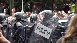 Das Video der Schande – Polizei stürmt Wahllokal in Barcelona