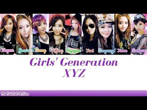 Girls' Generation (소녀시대): XYZ Lyrics