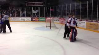Bitzer vs. Romeo 1-12-2013 GOALIE FIGHT! Lincoln Stars