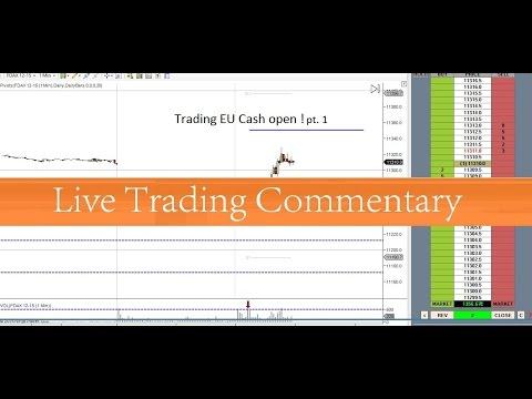 Trading EU Cash open pt. 1 DAX EU Cash open 27 11 2015
