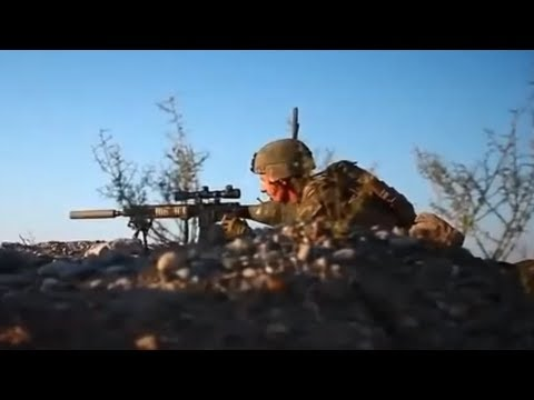 U.S. Marine Sniper Eliminates Taliban Fighter