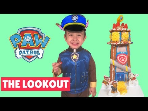 Paw Patrol Build The Lookout Tower Gingerbread House Cookie Kit Paw Patrol Gingerbread House