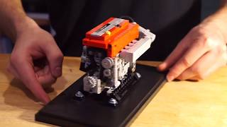Lego Honda K20 with Moving Parts and Accessories