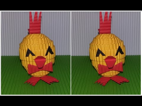 DIY chicken from corrugated paper / kokoru paper (easy and simple)