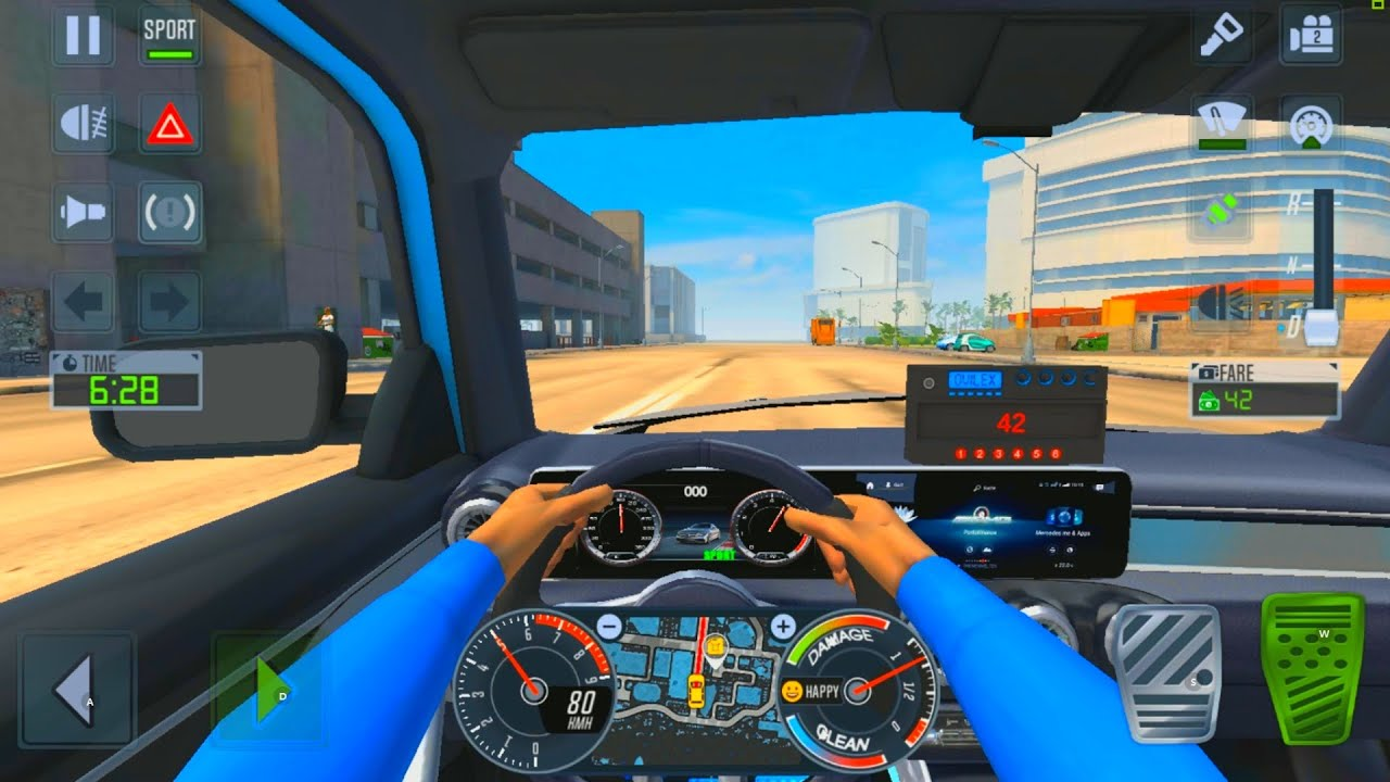 VERY COOL CAR CAB DRIVER - City Car Driving Games Android iOS - Taxi Sim 2020 Gameplay