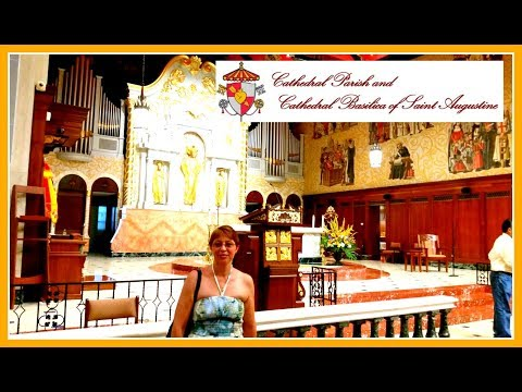 Walking Inside the Cathedral Basilica of St Augustine