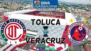 PES 2019 | Toluca vs Veracruz | Jornada 9 Liga Mx | Gameplay PC