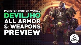 Monster Hunter World | All Deviljho Armor, Weapons & Palico Gear