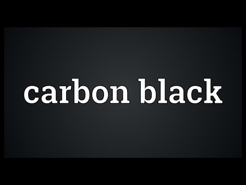 Carbon black Meaning