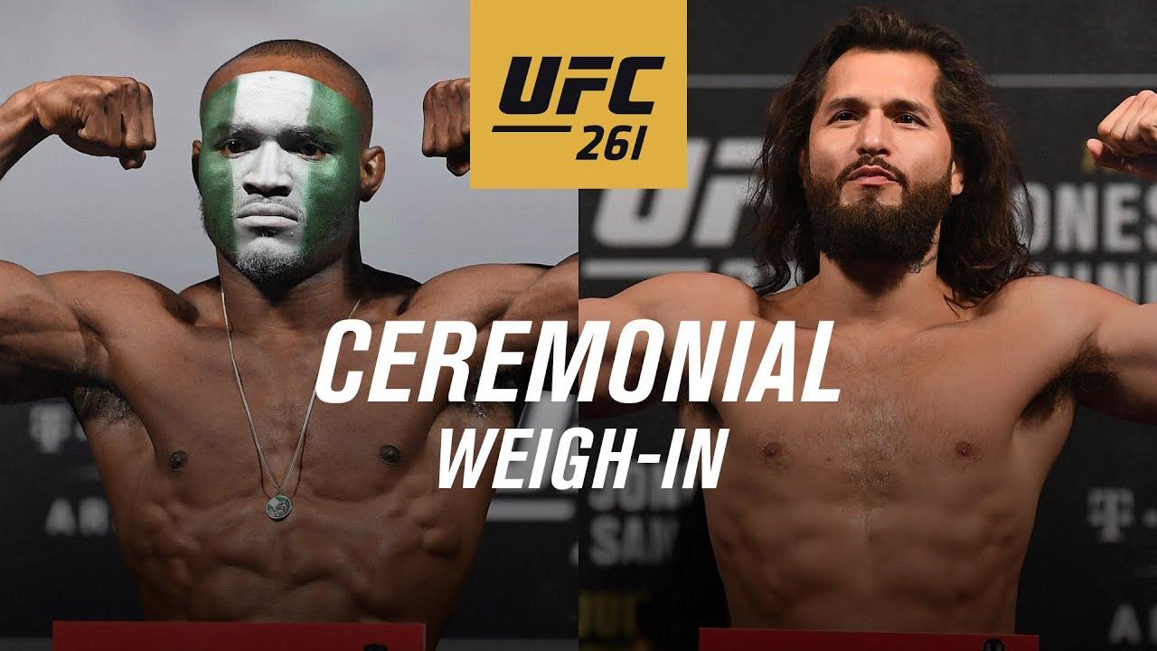 UFC 261: Ceremonial Weigh-in