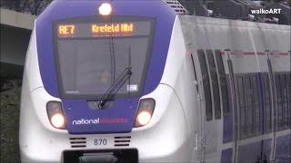 NEW national express trains in Germany, Very British unterwegs in NRW neue Regionalzüge RE7