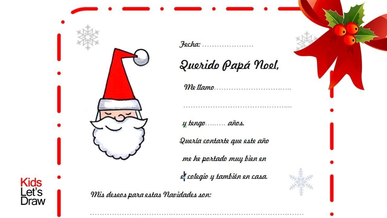 Modelo De Carta A Papa Noel Santa Claus Para Descargar E Imprimir - Papa-noel-para-imprimir