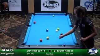 2015 9-Ball Women's Open Singles: Taylor Hansen vs Christina Jeff (Final)