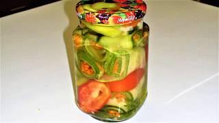 Маринованные огурцы с морковкой. Салат- консервы. Как приготовить консервы. How to cook canned food.