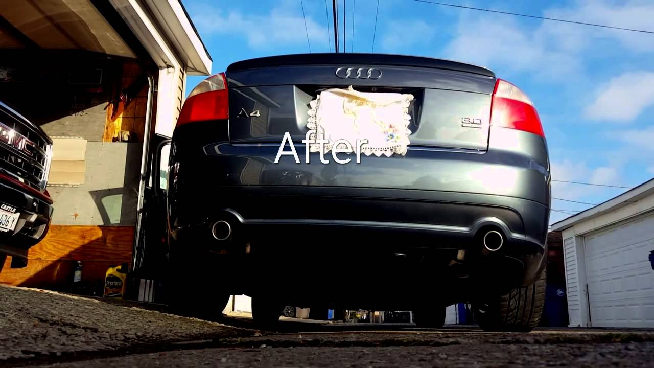 2005 audi a4 3 0 quattro b6 magnaflow exhaust youtube. Black Bedroom Furniture Sets. Home Design Ideas