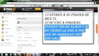 Como subir imágenes a tu pagina web de mex.tl
