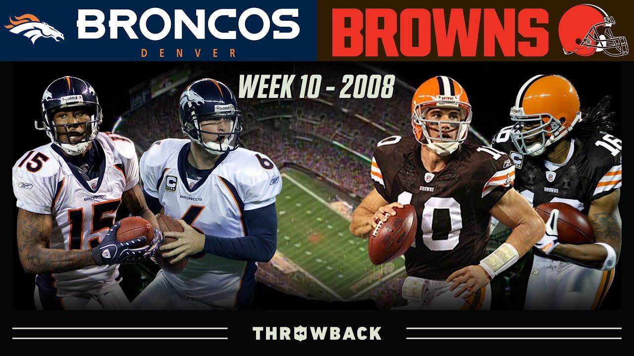A New Era Begins on TNF! (Broncos vs. Browns 2008, Week 10)