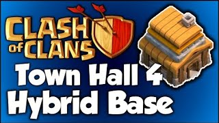 Clash of Clans |BEST TOWN HALL 4 HYBRID BASE| - Speed Build Ep: #11 - 2015