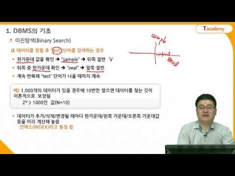 데이터베이스 기초 1강 DBMS 기초 | T아카데미