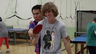 Beating An Asian At Pingpong!
