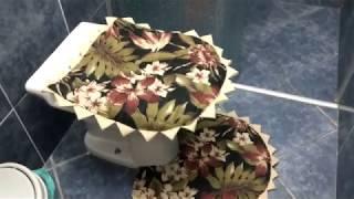 Aprenda a Fazer Jogo de Banheiro com Tecido