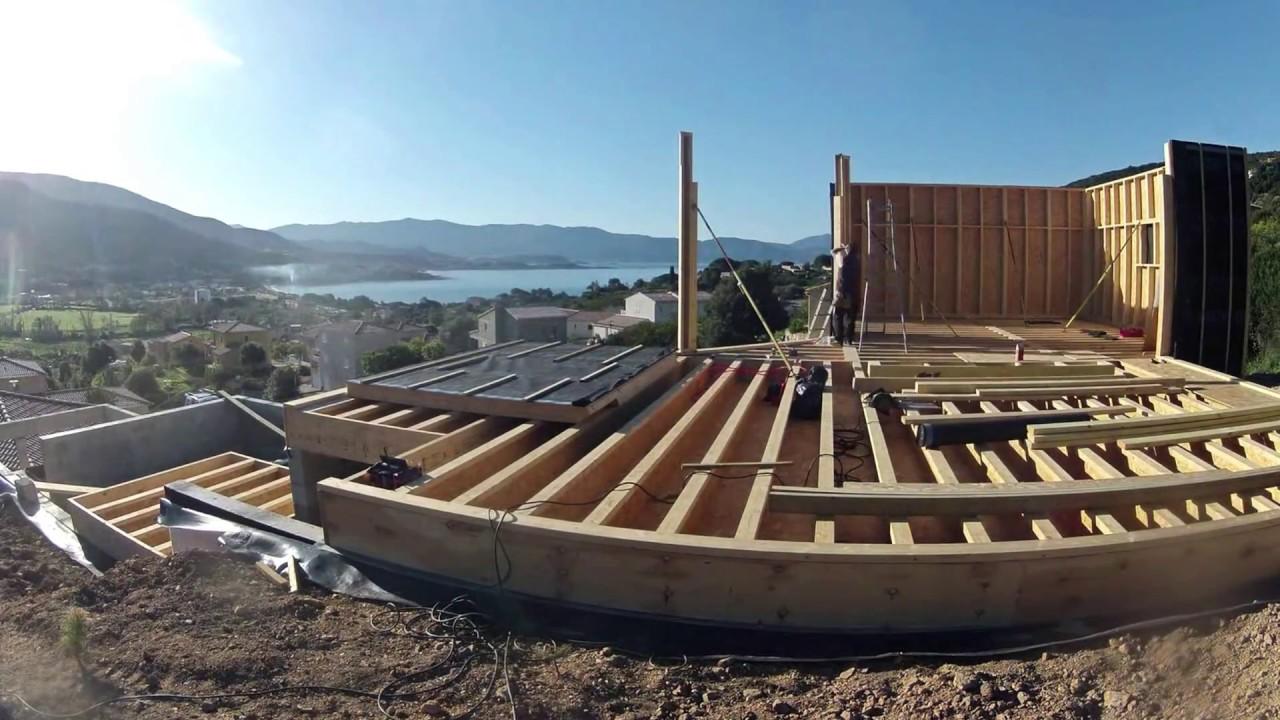 Constructeur Corse Du Sud m&m charpente | timelapse maison en bois - corse