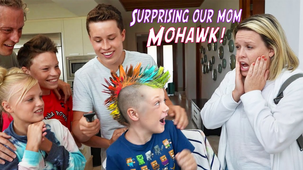 Download We gave our brother a Mohawk! Mom is Shocked!