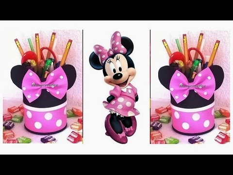 DIY Minnie Mouse Favors & pencil holder / Minnie Mouse Party Ideas