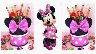 DIY Minnie Mouse Favors & pencil holder / Minnie Mouse Party Ideas