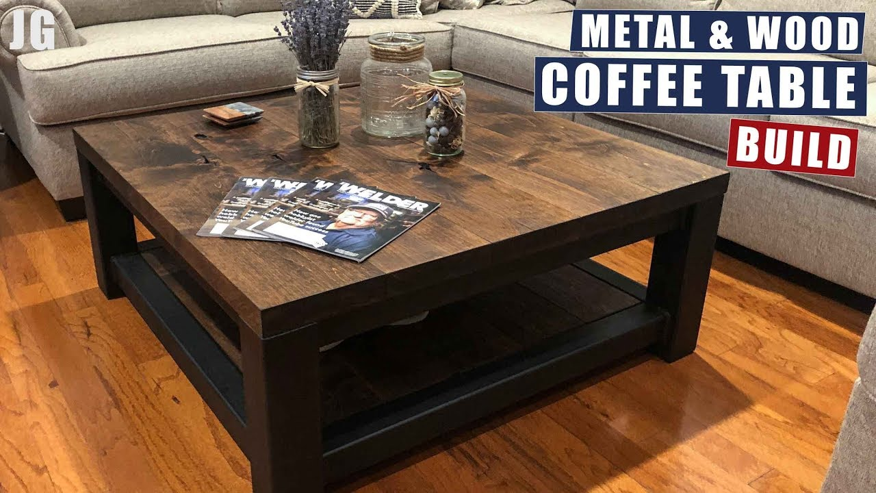 Metal Wood Coffee Table Build Jimbo S Garage Youtube