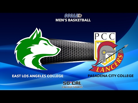 Men's Basketball: Pasadena City College at East Los Angeles College, Friday 2/17/17 at 5:00 PM
