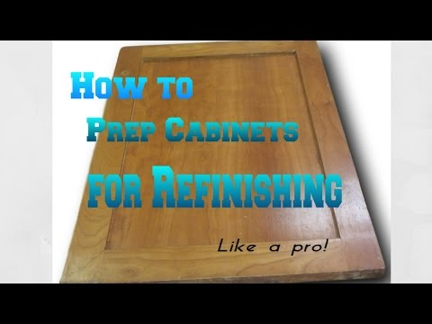 How to prep cabinets for Refinishing