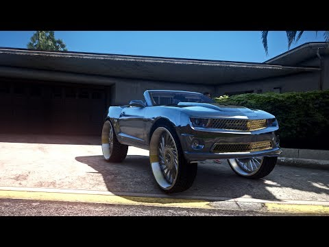 Cj So Cool Tank Camaro on 32's - (GTA V DONK MOD) New Paint Job