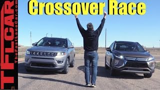 Not Even Close! Mitsubishi Eclipse Cross vs Jeep Compass Leisurely Drag Race