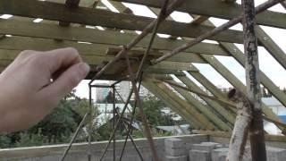 Стропильная система часть 1(Видео про монтаж стропильной системы моего дома., 2014-10-08T09:19:08.000Z)