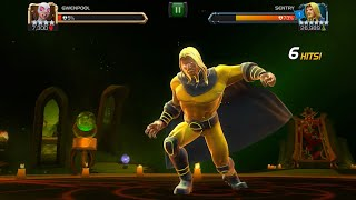 SENTRY ALL SPECIAL ABILITIES AND ATTACKS GAMEPLAY! (MCOC) (6 STAR) (UNCOLLECTED)