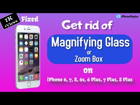 best sneakers cc4e7 8db26 How to get rid of Magnifying Glass (Zoom Box) on iPhone 6, 7, 8, 6s, 6  Plus, 7 Plus, 8 Plus