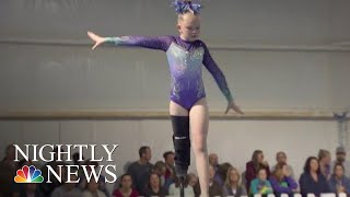 Young Gymnast With Prosthetic Leg Is Breaking Boundaries | NBC Nightly News