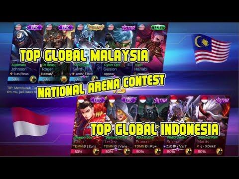 SERU !!! Top Global Malaysia vs Top Global Indonesia - Arena Contest Mobile Legends