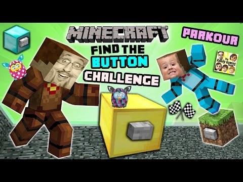 Minecraft FIND the BUTTON CHALLENGE!  Duddy & Chase Race, Cheat, Fight & Parkour! (FGTEEV Battle)