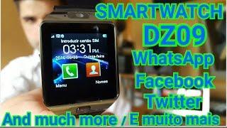 Smartwatch DZ09 relógio inteligente bluetooth whatsapp facebook twitter análise em PORTUGUES