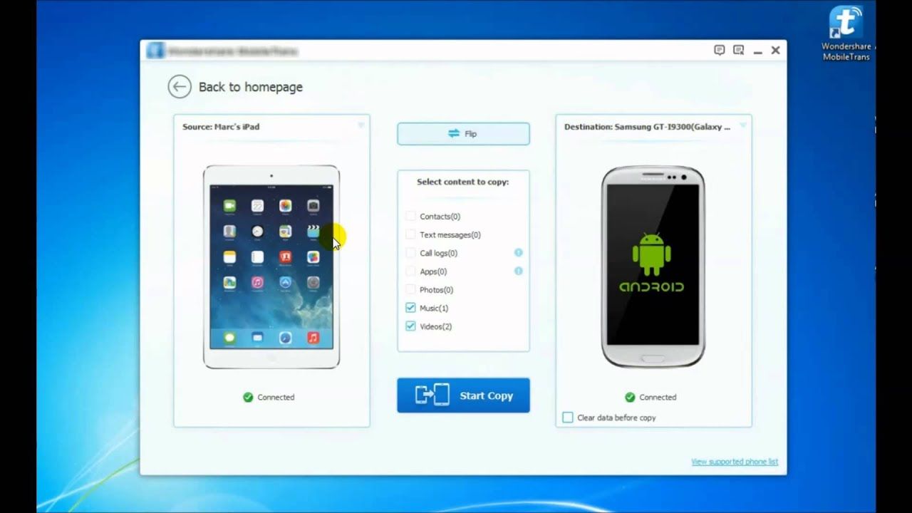 how to move data from iphone to android