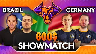 Brazil vs Germany Showmatch for 2v2 World Cup germany has chances in the tournament