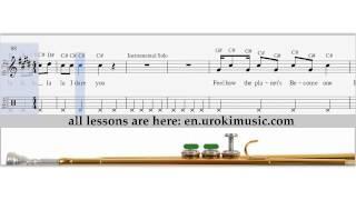 Shakira - La La La - How To Play Trumpet - Sheet Music Fingering Sample Key | Trumpet Lessons - How to Play Trumpet