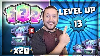 OPENING 20x LEGENDARY KINGS CHEST!! MAX LEVEL UNLOCKED!! Clash Royale Chest Opening