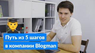 Путь от стажера до ведущего разработчика в компании Blogman