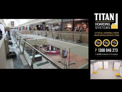 A typical Kiosk Hoarding vs TITAN