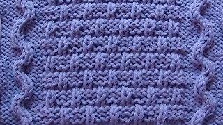 Рельефный узор Кирпичики к джемперу London Town Вязание спицами Видеоурок 168