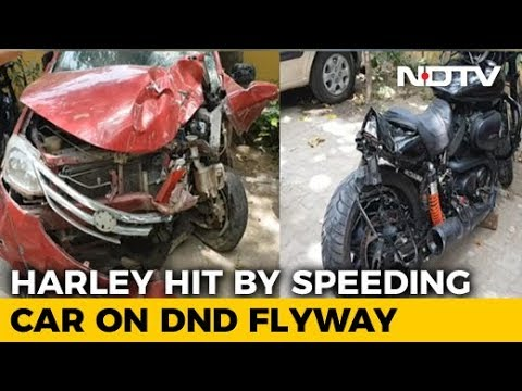 Harley Rider Falls In Yamuna After Being Hit By Speeding Car, Missing Mp3